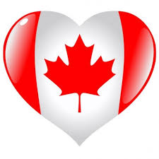 heart shaped Cdn flag